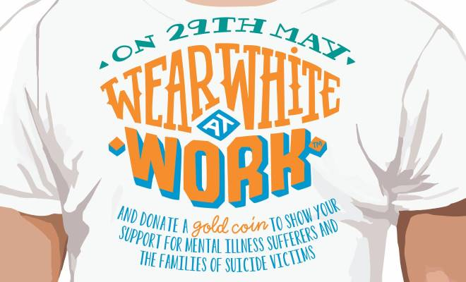 Wear White @ Work for White Wreath