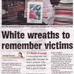 White Wreath To Remember Victims