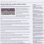 White Wreath Day recalls suicide vicims - Newsbytes - Thursday 31 May 2012