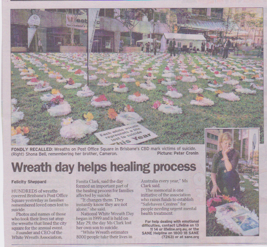 White Wreath Day helps healing process – Courier Mail