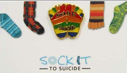 Sock It To Suicide Pin