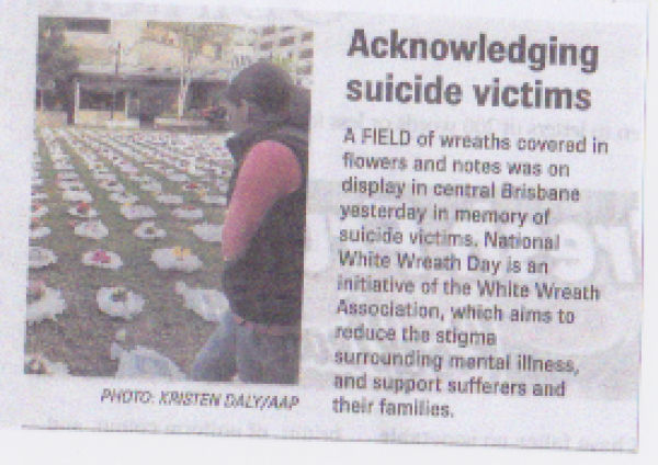 acknowledging suicide victims